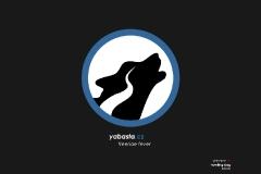 yabasta t-shirt howling dog 02